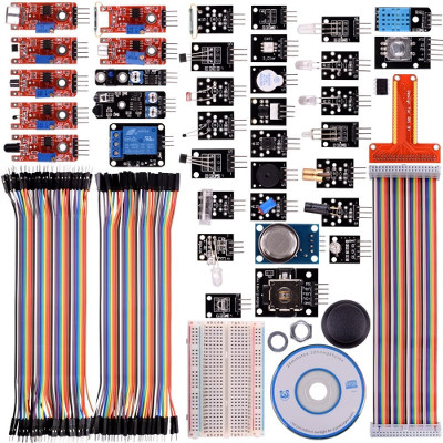 Kuman Updated 37 in 1 Modules Sensor Kit with Tutorials for