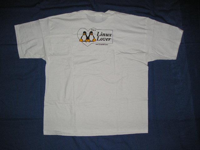 Il lato posteriore della T-Shirt Linux Lover