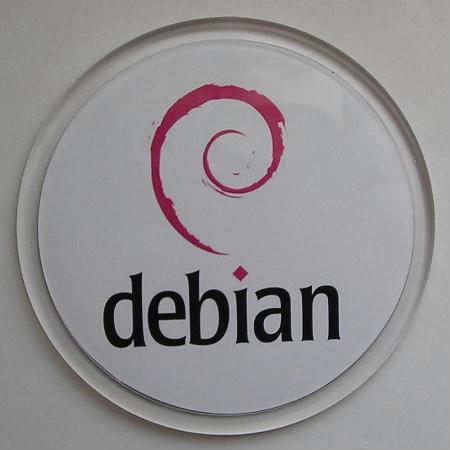 Sottobicchiere rotondo Debian